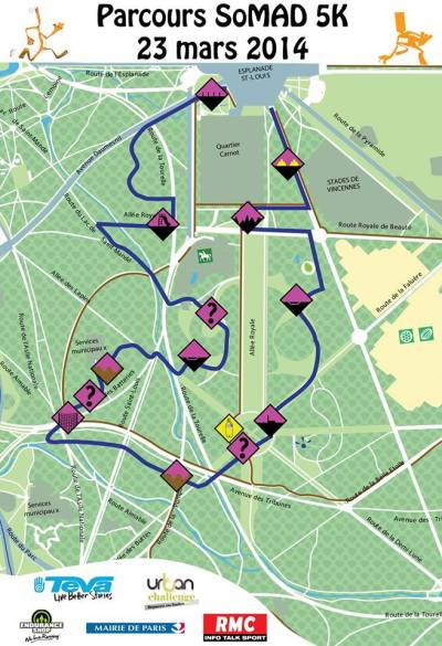 Parcours SoMAD 2014 - 5 km