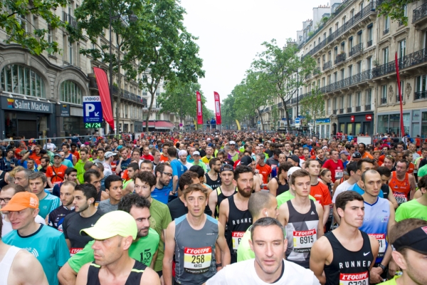 10Km l'Equipe Paris 2016 - 29/05/2016 – Paris – France – Les concurrents au depart
